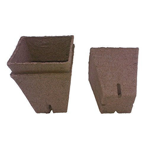 Jiffy Biodegradable Square 9cm x 9cm Pots